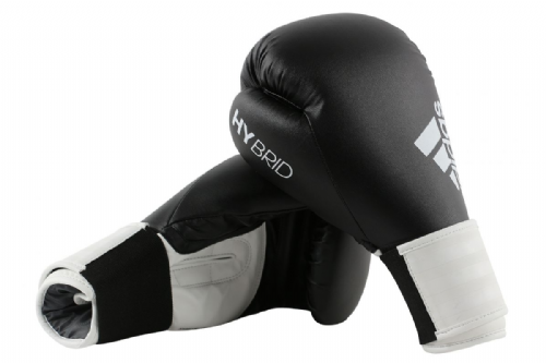 Adidas Hybrid 100 Boxing Gloves - Black/White
